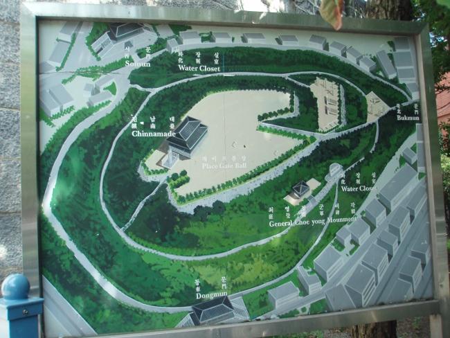 子城台公園の案内図