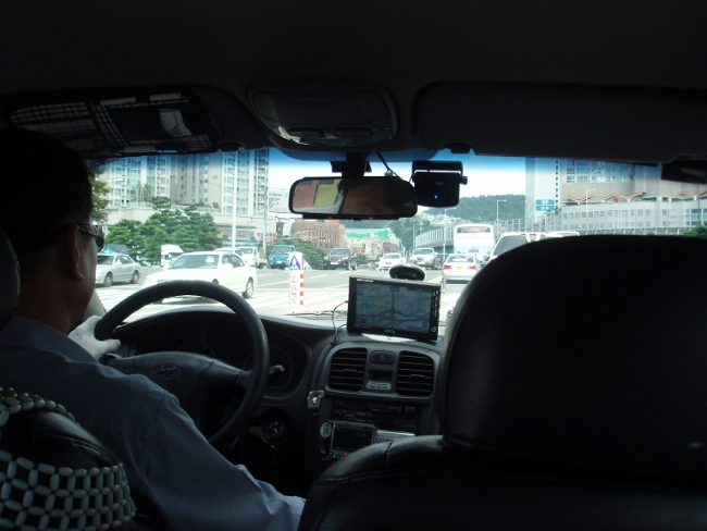 一般タクシーに乗車