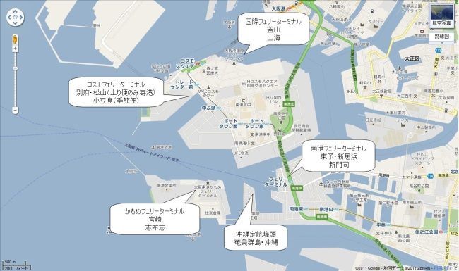 大阪港旅客ターミナルマップ