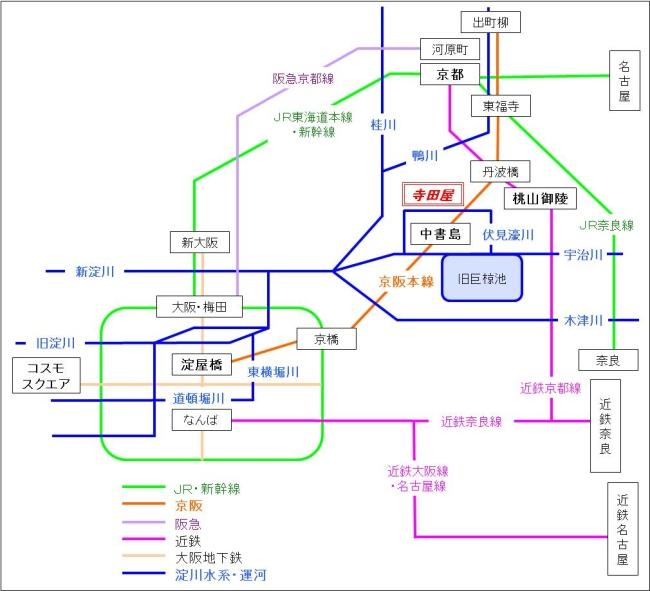 京阪間鉄路&水系