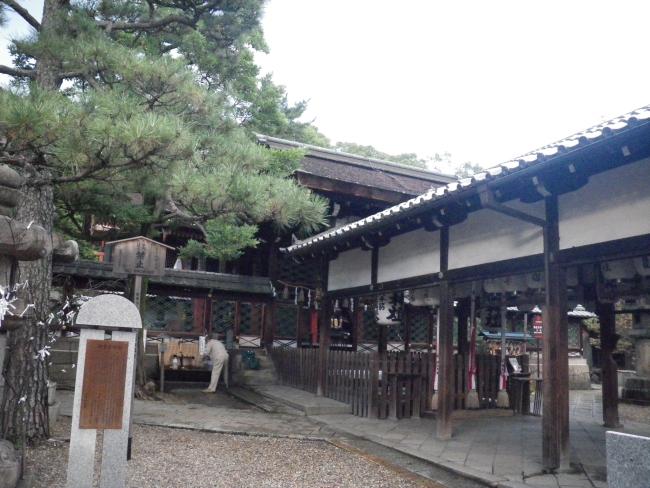 御香宮神社の拝殿