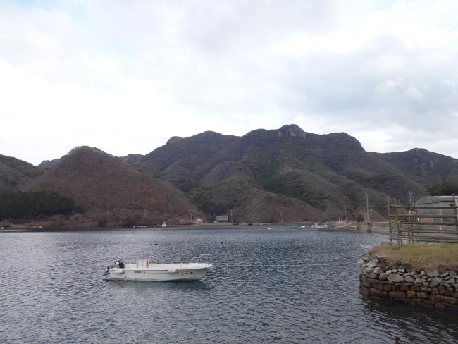 金田城遠景