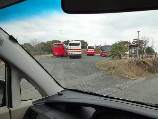 観光バス群
