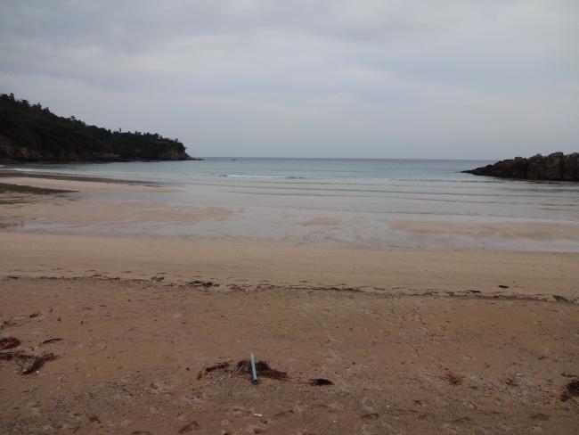 茂木浜と水平線