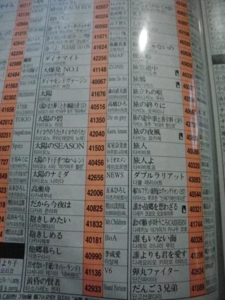 カラオケ検索本