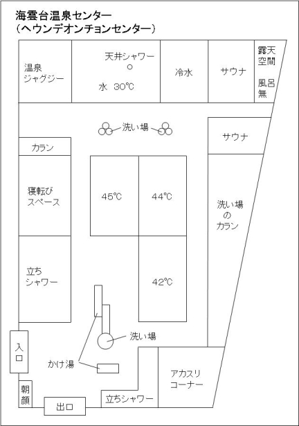 海雲台温泉センター配置図