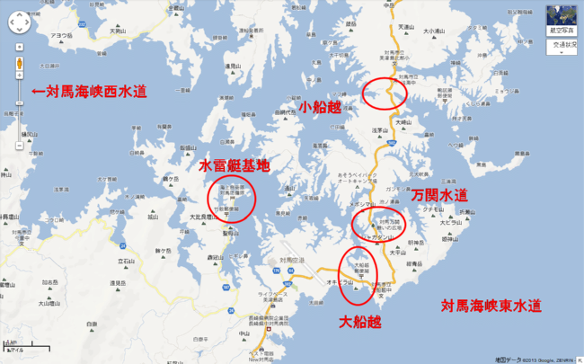 浅芽湾マップ