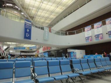 天津国際客船ターミナルのロビー